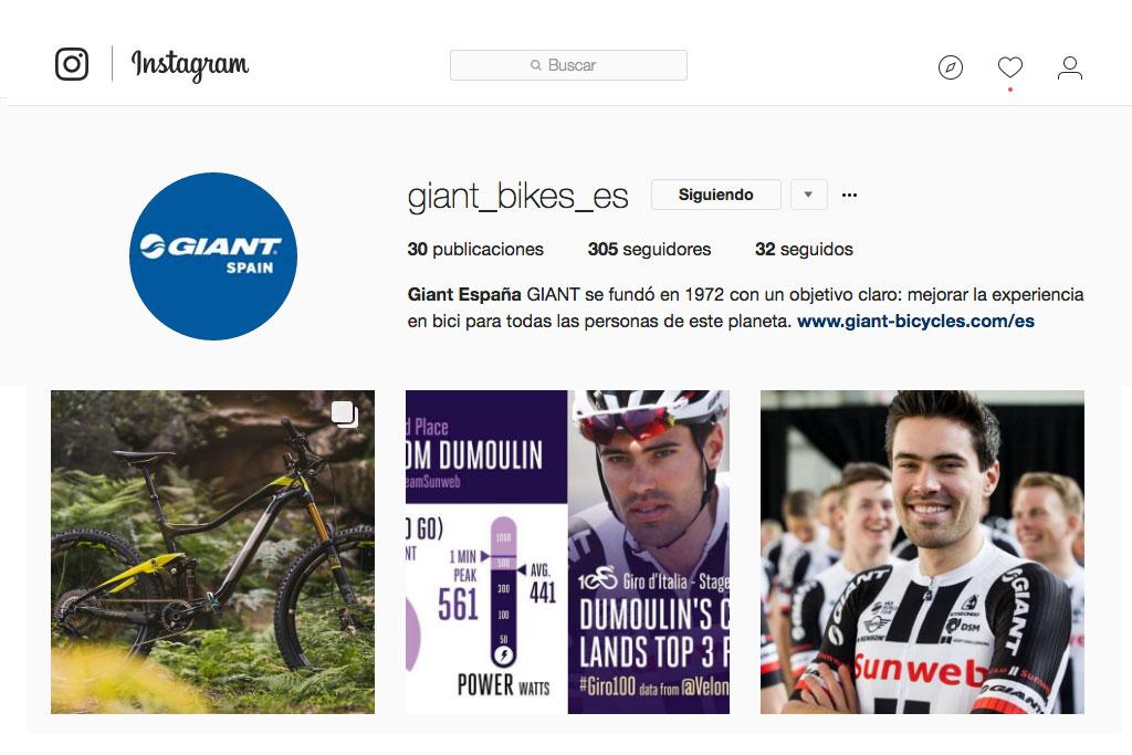 Giant y LIV España estrenan perfiles oficiales en Instagram