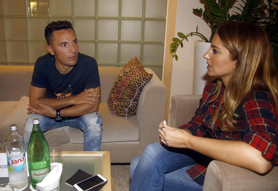 Laura Meseguer conversar Joaquím Rodríguez